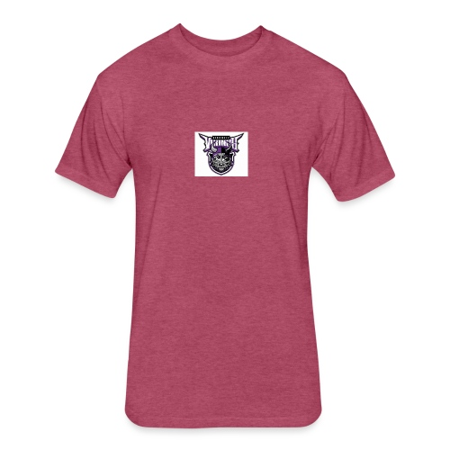 hmmmmmmmmmmmm - Fitted Cotton/Poly T-Shirt by Next Level