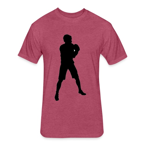 FIF Men Full Body Fighter Design - Fitted Cotton/Poly T-Shirt by Next Level