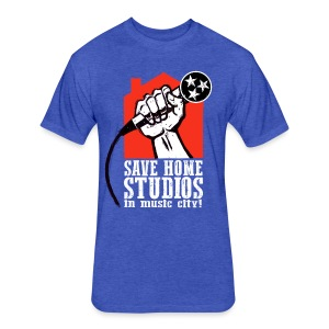 Save Home Studios In Music City - Fitted Cotton/Poly T-Shirt by Next Level