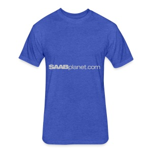 Saab - Fitted Cotton/Poly T-Shirt by Next Level