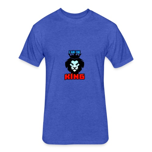 I am the King Logo - Fitted Cotton/Poly T-Shirt by Next Level