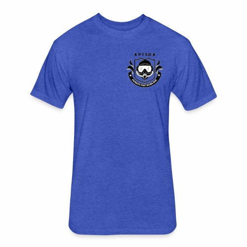 PTSD Crest - Fitted Cotton/Poly T-Shirt by Next Level
