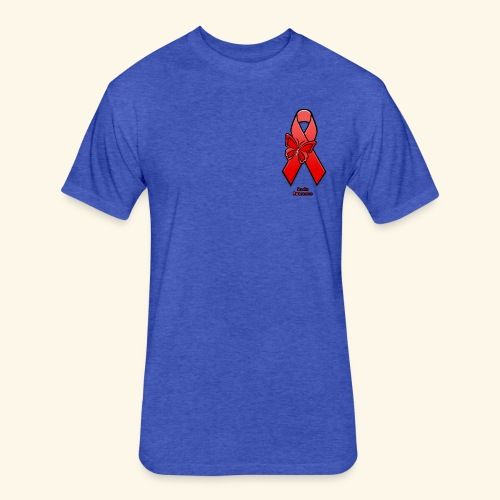 Stroke Awareness - Fitted Cotton/Poly T-Shirt by Next Level