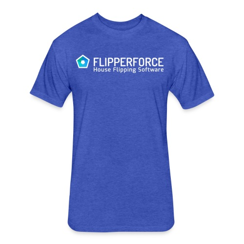 Flipper Force Logo White - Fitted Cotton/Poly T-Shirt by Next Level