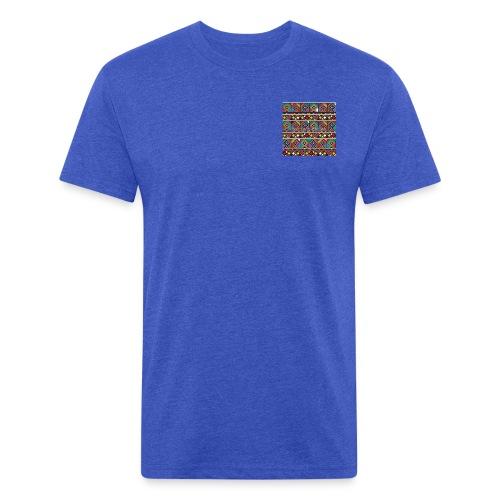 Afrikanische Ethno Fliesen - Fitted Cotton/Poly T-Shirt by Next Level