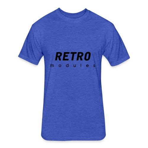 Retro Modules - sans frame - Fitted Cotton/Poly T-Shirt by Next Level