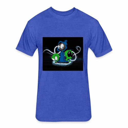 Alien Face - Fitted Cotton/Poly T-Shirt by Next Level