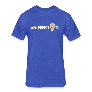 #BLESSEDEARS - Fitted Cotton/Poly T-Shirt by Next Level