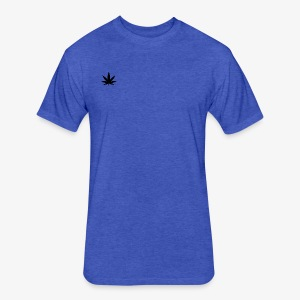 weed shirt - Fitted Cotton/Poly T-Shirt by Next Level