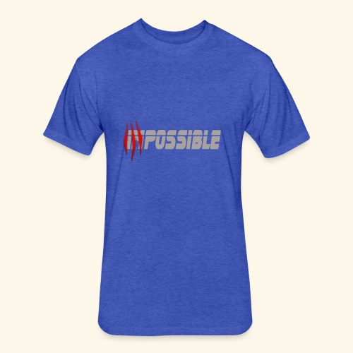 impossible - Fitted Cotton/Poly T-Shirt by Next Level