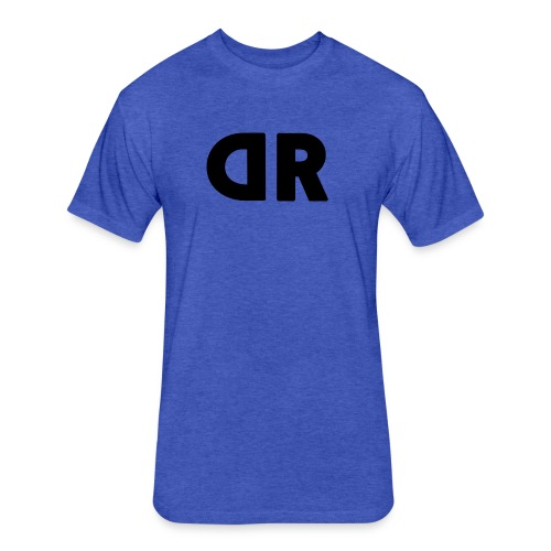 DUBBRICHARD BLACK ON BLUE - Fitted Cotton/Poly T-Shirt by Next Level