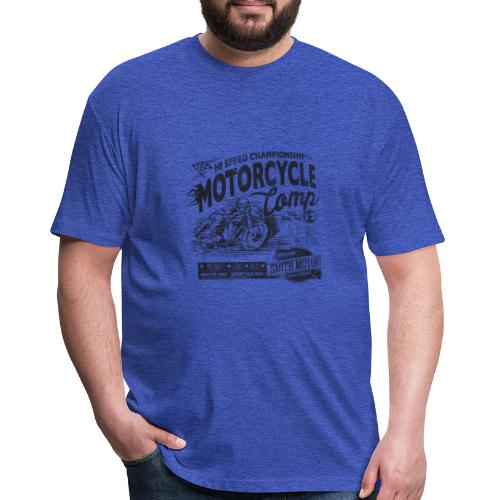 vintage bike - Fitted Cotton/Poly T-Shirt by Next Level
