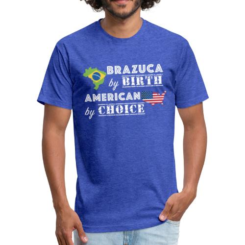 Brazuca and American - Fitted Cotton/Poly T-Shirt by Next Level