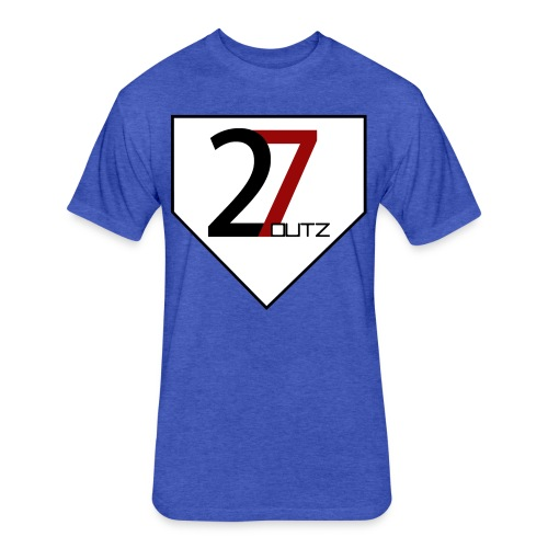 27 Outz - Home Plate - Fitted Cotton/Poly T-Shirt by Next Level