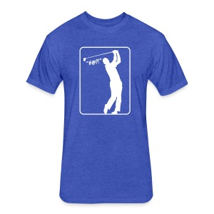 Golf Shot #@?! - Fitted Cotton/Poly T-Shirt by Next Level
