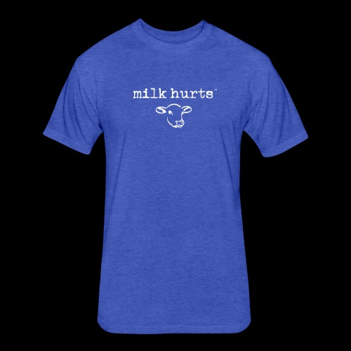 milk hurts - Fitted Cotton/Poly T-Shirt by Next Level