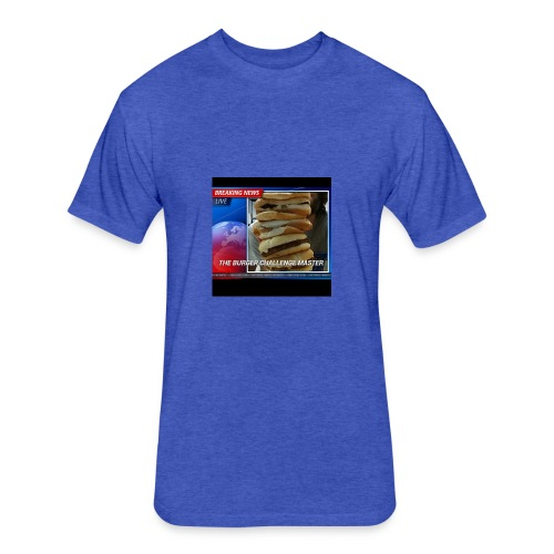 Breaking News Live Burger Challenge Master - Fitted Cotton/Poly T-Shirt by Next Level