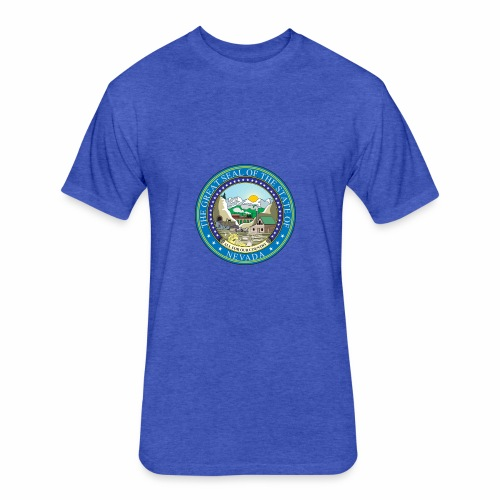 Nevada State RP - Seal - Fitted Cotton/Poly T-Shirt by Next Level