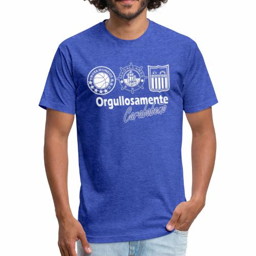 orgullosamente carabobeño - Fitted Cotton/Poly T-Shirt by Next Level