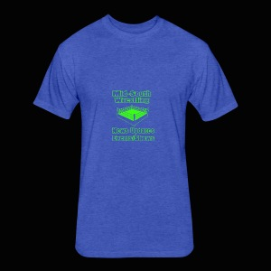 Mid-South Wrestling News Neon/Lime Green - Fitted Cotton/Poly T-Shirt by Next Level