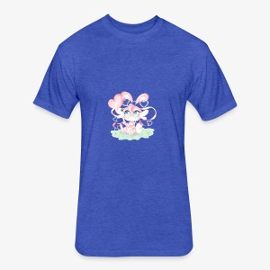 Cute lil bunny - Fitted Cotton/Poly T-Shirt by Next Level