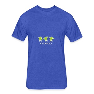 android logo T shirt - Fitted Cotton/Poly T-Shirt by Next Level