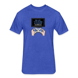 Blue Thumbs Gaming: Gamepad Logo - Fitted Cotton/Poly T-Shirt by Next Level