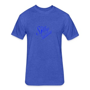 S.illyApparel Dodger Blue - Fitted Cotton/Poly T-Shirt by Next Level