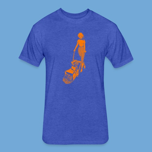 Roto-Hoe Orange - Fitted Cotton/Poly T-Shirt by Next Level