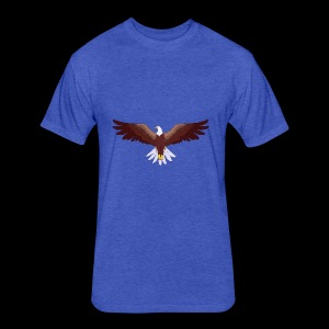 Eagle Logo - Fitted Cotton/Poly T-Shirt by Next Level