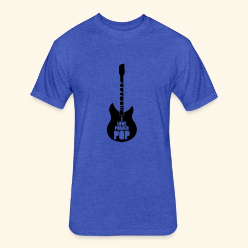 I Love Power Pop Guitar - Fitted Cotton/Poly T-Shirt by Next Level