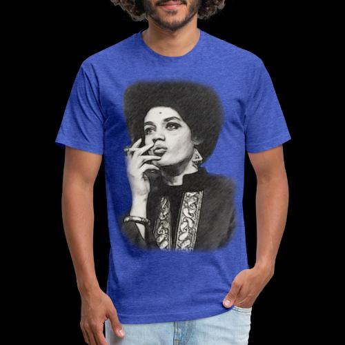 Lady Panther Smoking - Fitted Cotton/Poly T-Shirt by Next Level