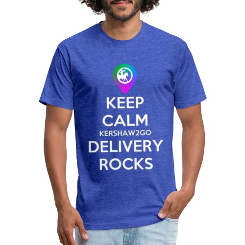 Keep Calm KC2Go Delivery Rocks - Fitted Cotton/Poly T-Shirt by Next Level