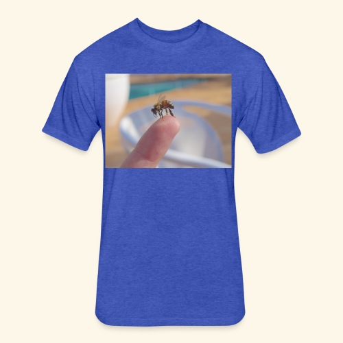bee - Fitted Cotton/Poly T-Shirt by Next Level