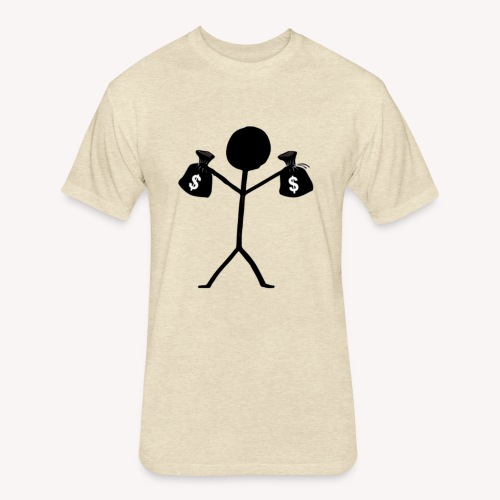 money - Fitted Cotton/Poly T-Shirt by Next Level