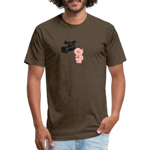 Hammie holding camera - Fitted Cotton/Poly T-Shirt by Next Level