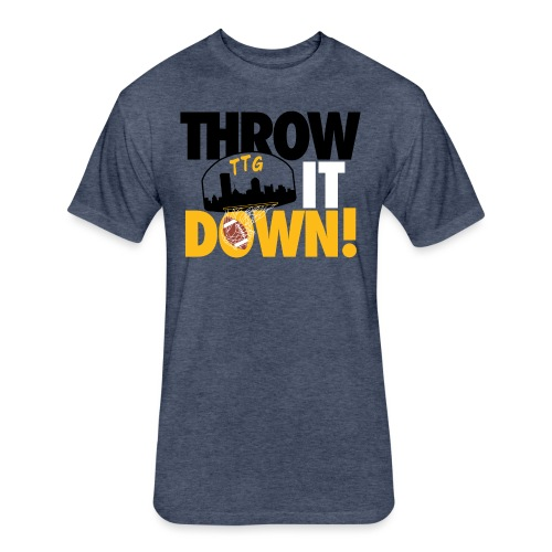 Throw it Down! (Turnover Dunk) - Fitted Cotton/Poly T-Shirt by Next Level