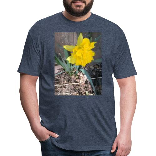 YELLOWFLOWER by S.J.Photography - Fitted Cotton/Poly T-Shirt by Next Level