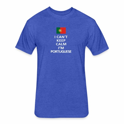 Rebelo Portugal Line - Fitted Cotton/Poly T-Shirt by Next Level