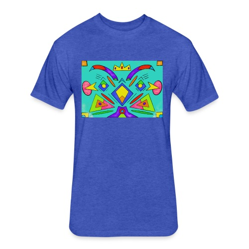 Crown Art - Fitted Cotton/Poly T-Shirt by Next Level