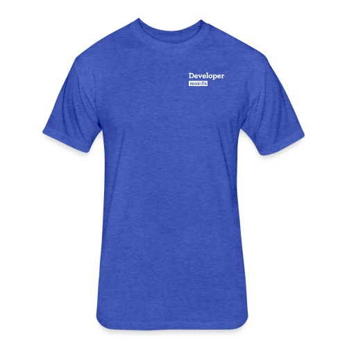 Developer - Fitted Cotton/Poly T-Shirt by Next Level
