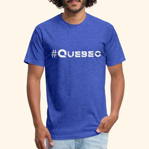 québec doux - T-shirt ajusté poly/coton pour hommes