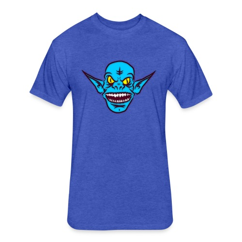Troll - Fitted Cotton/Poly T-Shirt by Next Level