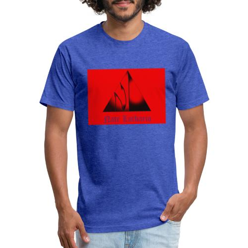 Red Logo 3 - Fitted Cotton/Poly T-Shirt by Next Level