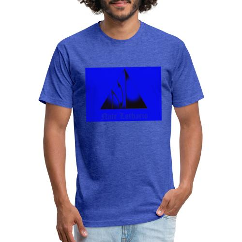 Blue Logo 2 - Fitted Cotton/Poly T-Shirt by Next Level
