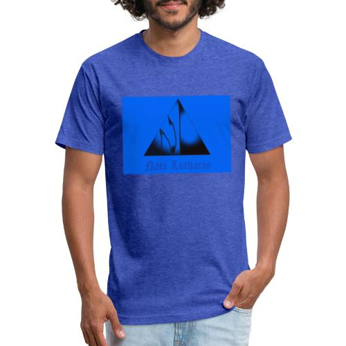 Light Blue Logo - Fitted Cotton/Poly T-Shirt by Next Level