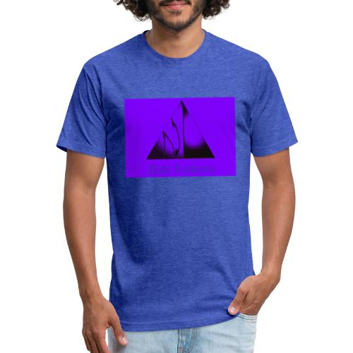 Purple Logo - Fitted Cotton/Poly T-Shirt by Next Level