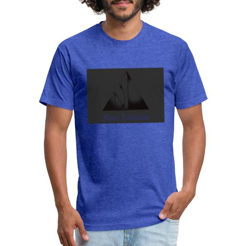 Dark Grey Logo - Fitted Cotton/Poly T-Shirt by Next Level