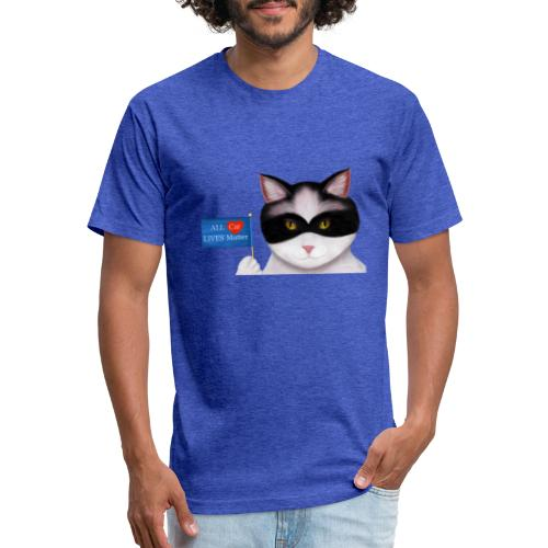Cat Lives matter - Fitted Cotton/Poly T-Shirt by Next Level