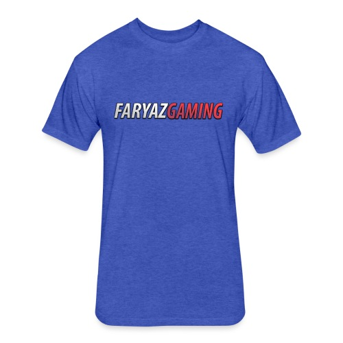 FaryazGaming Text - Fitted Cotton/Poly T-Shirt by Next Level